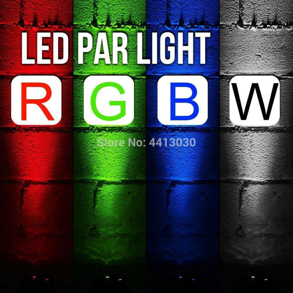 LED Par RGBW With DMX512 for club disco DJ Sound Activated Stage Light