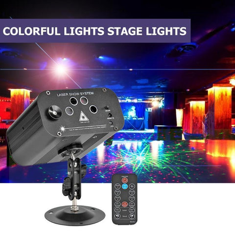 LED Disco Stage Light Laser Projector Effect Lamp RGB Colorful Lighting