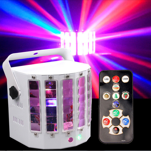 High Brightness 2 in 1 Full Color LED Butterfly Laser Light