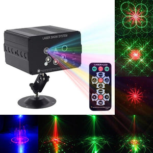 5 beam 48 pattern LED Laser Projector Stage Light