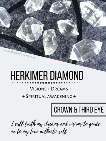Herkimer Diamond metaphysical meaning by the 7 Directions
