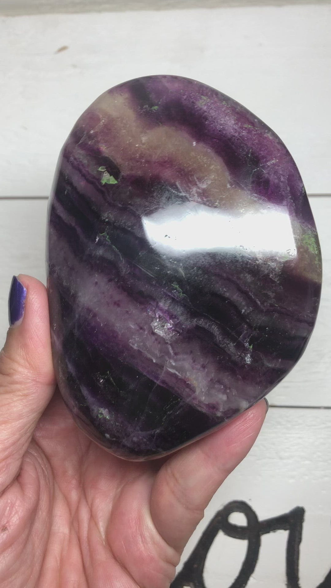XL Rainbow Fluorite pebble XC7