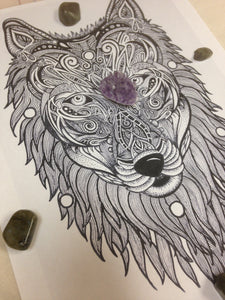 Wolf Spirit crystal grid * free shipping - The7directions