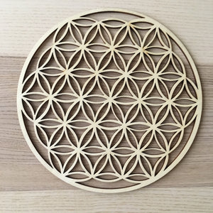 Flower of Life laser cut wood grid - free shipping - The7directions