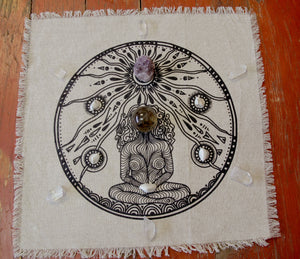 Goddess linen crystal grid - The7directions