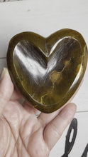 Load and play video in Gallery viewer, Tiger eye heart shaped bowl ZMK
