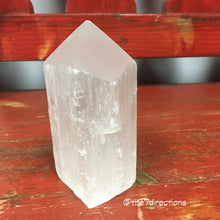 Large Selenite generator tower metaphysical vibrations- cleansing and recharging crystal grid