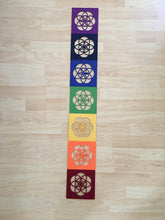Load image into Gallery viewer, Set of 7 Chakra Felt Grid - The7directions