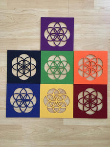 Set of 7 Chakra Felt Grid - The7directions