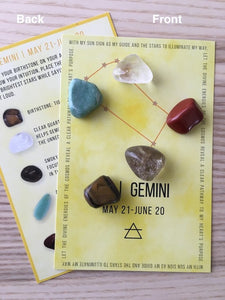 Gemini Sacred Geometry Constellation Crystal Grid - The7directions
