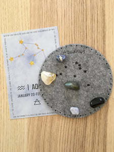 Aquarius Sacred Geometry Constellation Crystal Grid - The7directions