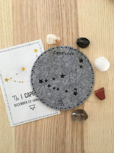 Capricorn Sacred Geometry Constellation Crystal Grid - The7directions