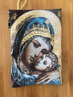 Madonna and child mala pouch coin purse SOP - The7directions