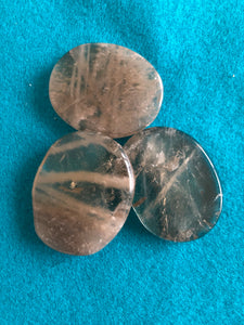 Tumbled Smoky quartz palm stone ** Free Ship