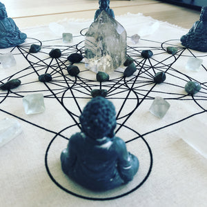 Compassion and Wisdom Crystal Grid Set - The7directions