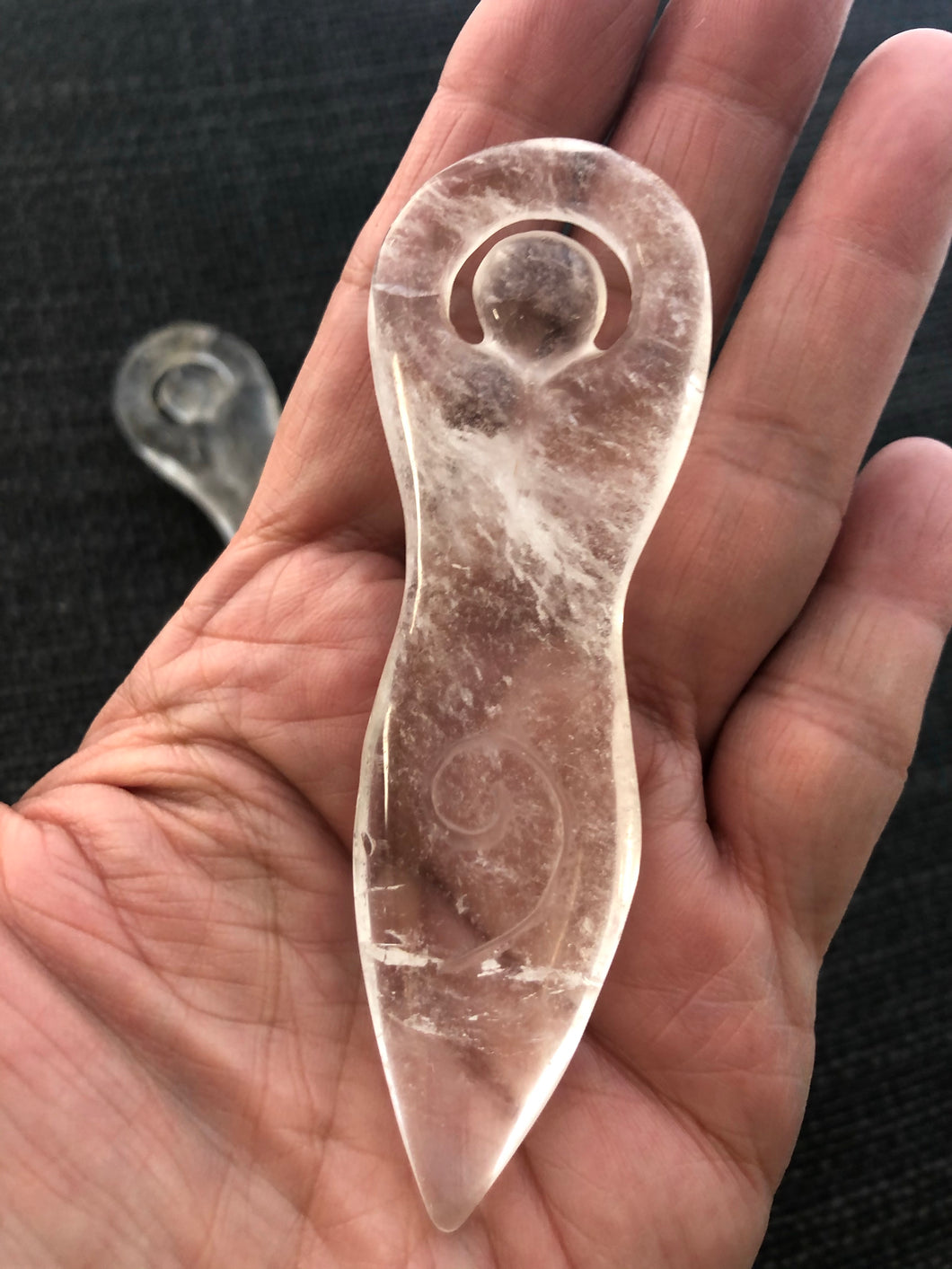 Clear quartz Goddess Pachamama carving Z8A