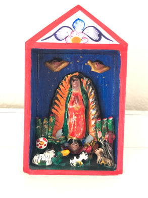 Goddess Guadalupe altar from Peru - The7directions