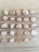 Load image into Gallery viewer, Rose quartz Rune Set - The7directions