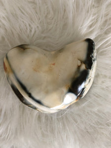 Blue Agate heart  XB3 - The7directions