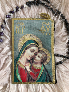 Madonna and child mala pouch coin purse ZM3