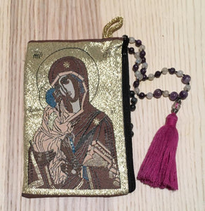 Madonna and child mala pouch coin purse SRS - The7directions