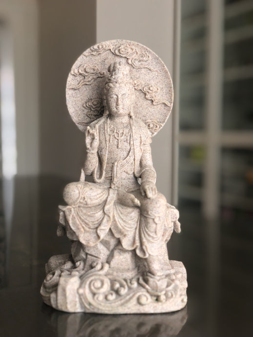 Quan Yin resin sandstone statue - The7directions