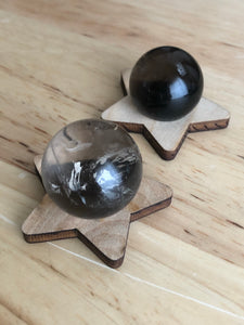 Mini Smoky quartz spheres - The7directions
