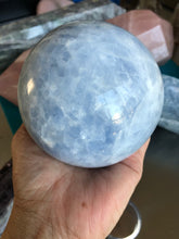 Load image into Gallery viewer, Blue Calcite Sphere approx 96 mm Calming 4XS - The7directions