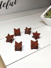 Load image into Gallery viewer, Red Jasper merkaba sacred geometry - The7directions