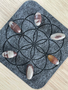 "Shiva Lingam 1"" tumbled set of 6 gridding set"