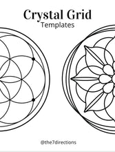 Load image into Gallery viewer, Printable Sacred Geometry Crystal Grid template - download