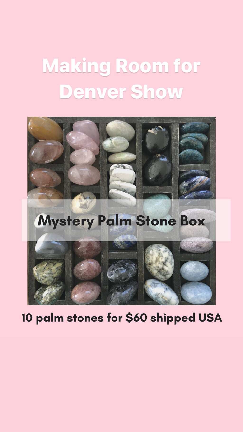 Mystery Box - Random pick 10 palm stones for $60 - The7directions