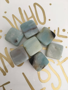 3 x Tumbled Amazonite Starburst - The7directions