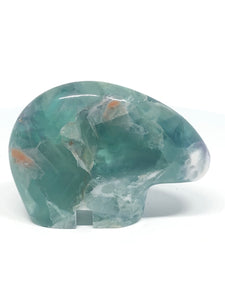 Green Fluorite Zuni bear Guardian healing YG - The7directions