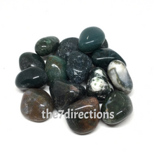 Load image into Gallery viewer, Tumbled Moss Agate x 3 - The7directions
