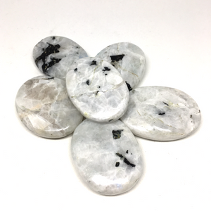 Rainbow Moonstone palm stone - The7directions