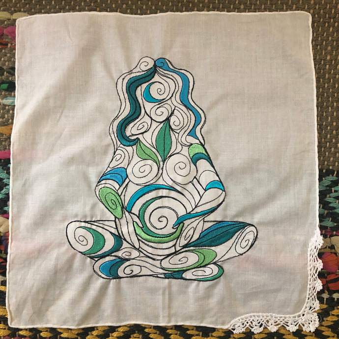 Embroidered Goddess Cotton grid - The7directions