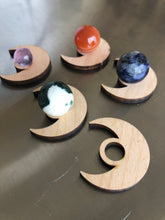 Load image into Gallery viewer, Crescent Moon Mini sphere holders with spheres - The7directions