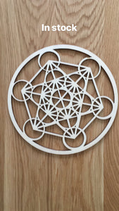 Metatron laser cut wood grid