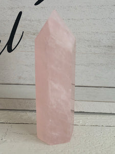 Rose quartz Tower 103 mm YR5 Heart Chakra Love Crystal - The7directions