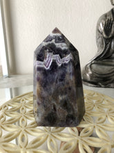 117 mm Chevron Amethyst third Eye Chakra tower SE2 ** Free ship