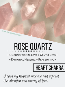 Rose Quartz Crescent Moon Bowl ritual self love setting intentions YE4 - The7directions