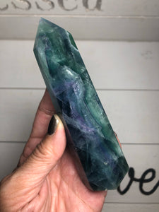 Rainbow Fluorite Pencil Tower XBY