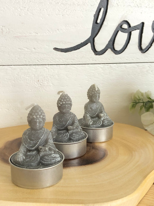 Set of 3 Buddha statue candles altar X2R - The7directions