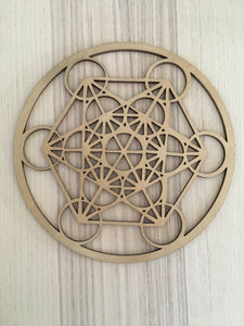 Metatron laser cut wood grid - Free shipping - The7directions