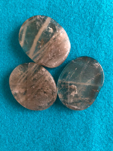 Tumbled Smoky quartz palm stone