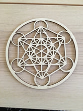 Load image into Gallery viewer, Metatron laser cut wood grid - Free shipping - The7directions