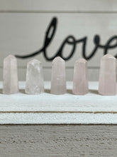 "Load image into Gallery viewer, M1"" Mini Rose Quartz Tower for crystal grids and altar ZKV"