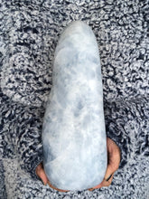 XL Blue Calcite Free Form Calming Soothing X4L