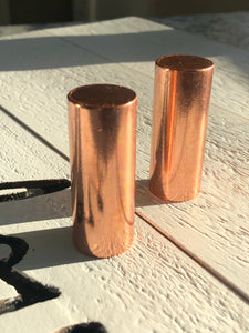 Set of 2 copper harmonizer Cylinders for Healing - The7directions